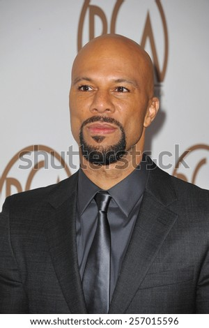 LOS ANGELES, CA - JANUARY 25, 2015: Common at the 26th Annual Producers Guild Awards at the Hyatt Regency Century Plaza Hotel.  - stock photo