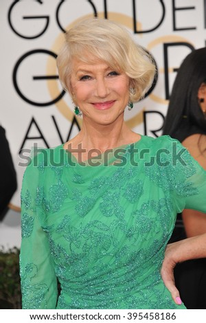 LOS ANGELES, CA - JANUARY 12, 2014: Dame Helen Mirren at the 71st Annual Golden Globe Awards at the Beverly Hilton Hotel. - stock photo