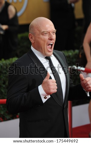 LOS ANGELES, CA - JANUARY 18, 2014: Dean Norris at the 20th Annual Screen Actors Guild Awards at the Shrine Auditorium.  - stock photo