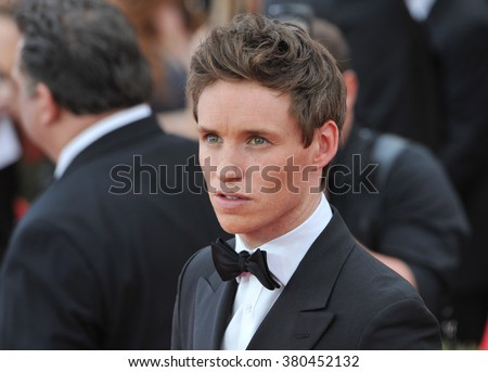 LOS ANGELES, CA - JANUARY 25, 2015: Eddie Redmayne at the 2015 Screen Actors Guild  Awards at the Shrine Auditorium.