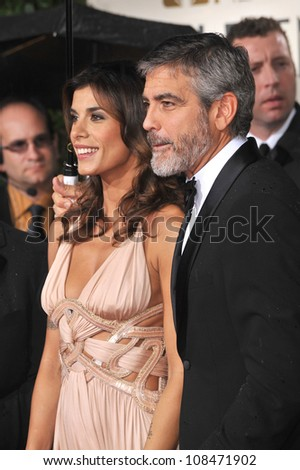 LOS ANGELES, CA - JANUARY 17, 2010: George Clooney & Elisabetta Canalis at the 67th Golden Globe Awards at the Beverly Hilton Hotel.