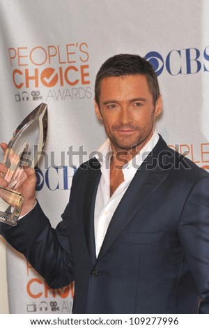 LOS ANGELES, CA - JANUARY 6, 2010: Hugh Jackman at the 2010 People's Choice Awards at the Nokia Theatre L.A. Live in Los Angeles. - stock photo