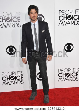 LOS ANGELES, CA - JANUARY 8, 2014: Ian Somerhalder at the 2014 People's Choice Awards at the Nokia Theatre, LA Live.