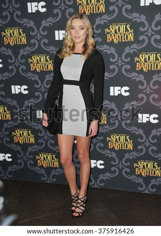 "LOS ANGELES, CA - JANUARY 7, 2014: Jellybean Howie at the premiere of her TV series ""The Spoils of Babylon"" at the Directors Guild of America Theatre."
