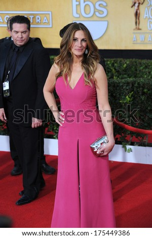LOS ANGELES, CA - JANUARY 18, 2014: Julia Roberts at the 20th Annual Screen Actors Guild Awards at the Shrine Auditorium.  - stock photo