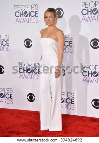 LOS ANGELES, CA - JANUARY 6, 2016: Kate Hudson at the People's Choice Awards 2016 - stock photo