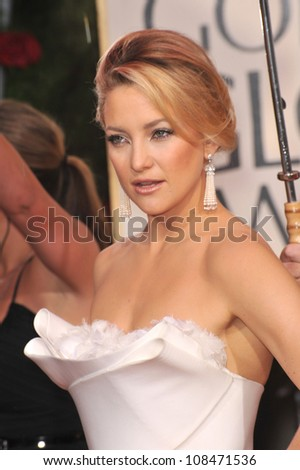 LOS ANGELES, CA - JANUARY 17, 2010: Kate Hudson at the 67th Golden Globe Awards at the Beverly Hilton Hotel. - stock photo
