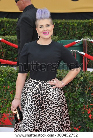 LOS ANGELES, CA - JANUARY 25, 2015: Kelly Osbourne at the 2015 Screen Actors Guild  Awards at the Shrine Auditorium.