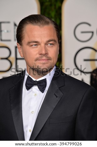 LOS ANGELES, CA - JANUARY 10, 2016: Leonardo DiCaprio at the 73rd Annual Golden Globe Awards at the Beverly Hilton Hotel.
