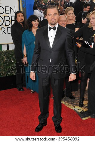 LOS ANGELES, CA - JANUARY 12, 2014: Leonardo DiCaprio at the 71st Annual Golden Globe Awards at the Beverly Hilton Hotel.