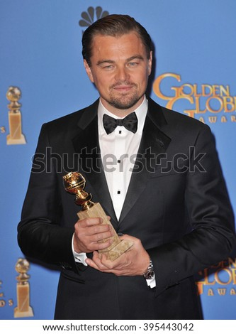 LOS ANGELES, CA - JANUARY 12, 2014: Leonardo DiCaprio in the press room at the 71st Annual Golden Globe Awards