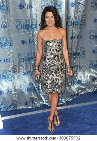 LOS ANGELES, CA - JANUARY 5, 2011: Lisa Edelstein at the 2011 Peoples' Choice Awards at the Nokia Theatre L.A. Live in downtown Los Angeles.  - stock photo