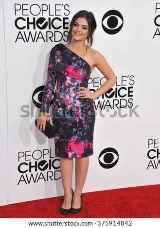 LOS ANGELES, CA - JANUARY 8, 2014: Lucy Hale at the 2014 People's Choice Awards at the Nokia Theatre, LA Live.