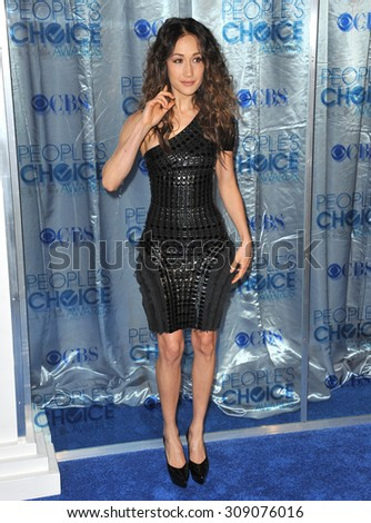 LOS ANGELES, CA - JANUARY 5, 2011: Maggie Q at the 2011 Peoples' Choice Awards at the Nokia Theatre L.A. Live in downtown Los Angeles.  - stock photo