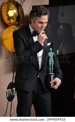 LOS ANGELES, CA - JANUARY 30, 2016: Mark Ruffalo at the 22nd Annual Screen Actors Guild Awards at the Shrine Auditorium