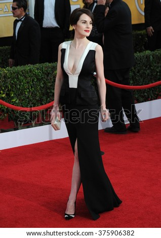 LOS ANGELES, CA - JANUARY 18, 2014: Michelle Dockery at the 20th Annual Screen Actors Guild Awards at the Shrine Auditorium.