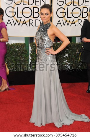 LOS ANGELES, CA - JANUARY 12, 2014: Mila Kunis at the 71st Annual Golden Globe Awards at the Beverly Hilton Hotel. - stock photo