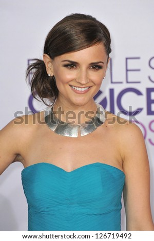 LOS ANGELES, CA - JANUARY 9, 2013: Rachael Leigh Cook at the People's Choice Awards 2013 at the Nokia Theatre L.A. Live. - stock photo