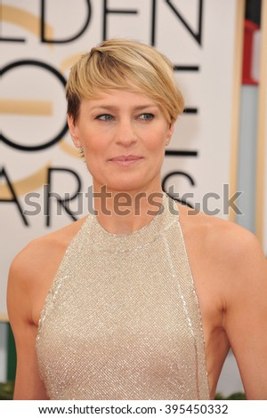 LOS ANGELES, CA - JANUARY 12, 2014: Robin Wright at the 71st Annual Golden Globe Awards at the Beverly Hilton Hotel. - stock photo
