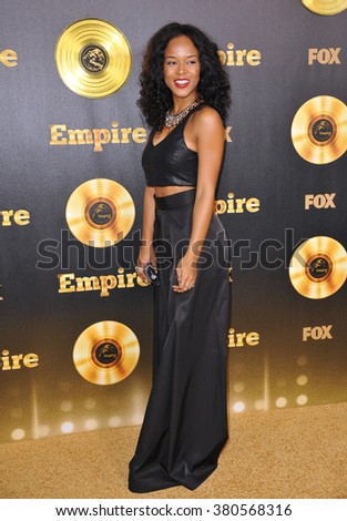 "LOS ANGELES, CA - JANUARY 6, 2015: Serayah McNeil at the premiere of Fox's new TV series ""Empire"" at the Cinerama Dome, Hollywood. - stock photo"