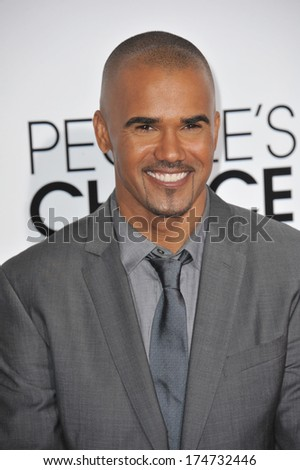 LOS ANGELES, CA - JANUARY 8, 2014: Shemar Moore at the 2014 People's Choice Awards at the Nokia Theatre, LA Live.  - stock photo