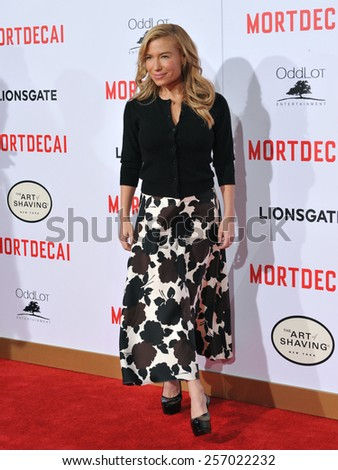 """LOS ANGELES, CA - JANUARY 21, 2015: Tracy Anderson at the Los Angeles premiere of """"Mortdecai"""" at the TCL Chinese Theatre, Hollywood.  - stock photo"""