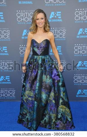LOS ANGELES, CA - JANUARY 15, 2015: TV presenter Brooke Anderson at the 20th Annual Critics' Choice Movie Awards at the Hollywood Palladium. - stock photo