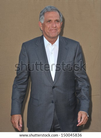 LOS ANGELES, CA - JULY 29, 2013: CBS boss Leslie Moonves at the CBS 2013 Summer Stars Party in Beverly Hills.