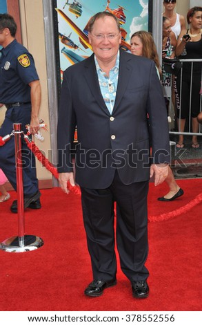 "LOS ANGELES, CA - JULY 15, 2014: Executive producer John Lasseter at the world premiere of his movie Disney's ""Planes: Fire & Rescue"" at the El Capitan Theatre, Hollywood."