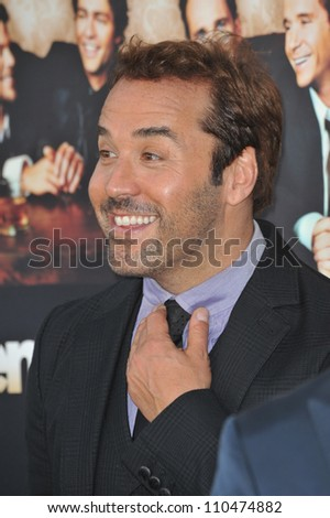 "LOS ANGELES, CA - JULY 9, 2009: Jeremy Piven at the premiere for the sixth season of the HBO TV series ""Entourage"" at Paramount Studios, Hollywood."