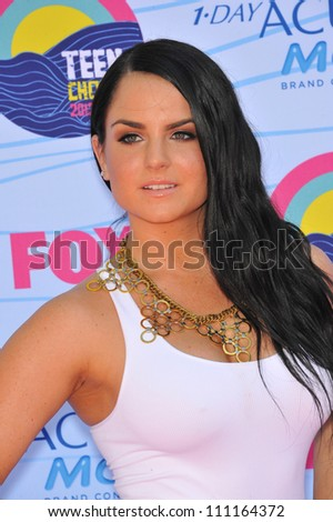 LOS ANGELES, CA - JULY 23, 2012: Joanna 'JoJo' Levesque at the 2012 Teen Choice Awards at the Gibson Amphitheatre, Universal City.