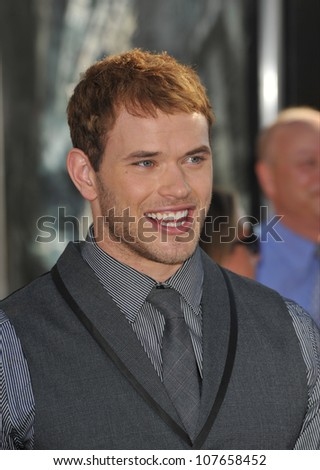 "LOS ANGELES, CA - JULY 13, 2010: Kellan Lutz at the Los Angeles premiere of ""Inception"" at Grauman's Chinese Theatre, Hollywood."