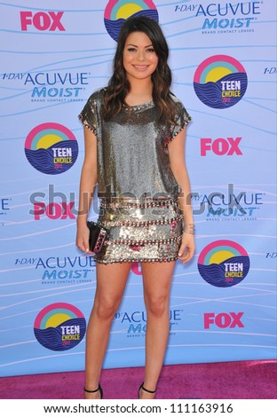 LOS ANGELES, CA - JULY 23, 2012: Miranda Cosgrove at the 2012 Teen Choice Awards at the Gibson Amphitheatre, Universal City.