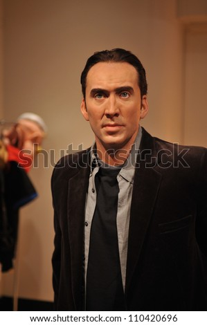 LOS ANGELES, CA - JULY 21, 2009: Nicolas Cage waxwork figure - grand opening of Madame Tussauds Hollywood. - stock photo