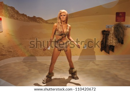 LOS ANGELES, CA - JULY 21, 2009: Raquel Welch waxwork figure - grand opening of Madame Tussauds Hollywood. - stock photo
