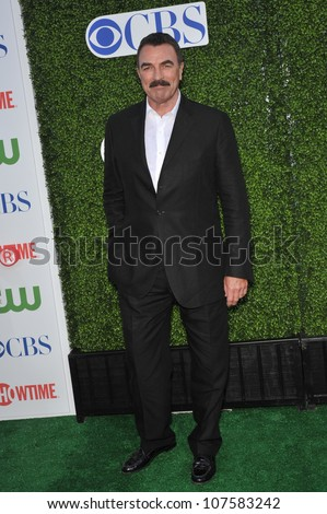 "LOS ANGELES, CA - JULY 28, 2010: Tom Selleck - star of ""Blue Bloods"" - at CBS TV Summer Press Tour Party in Beverly Hills."