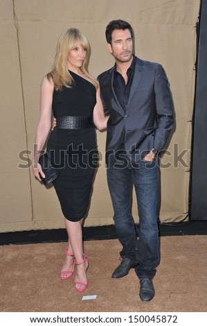 LOS ANGELES, CA - JULY 29, 2013: Toni Collette & Dylan McDermott at the CBS 2013 Summer Stars Party in Beverly Hills.