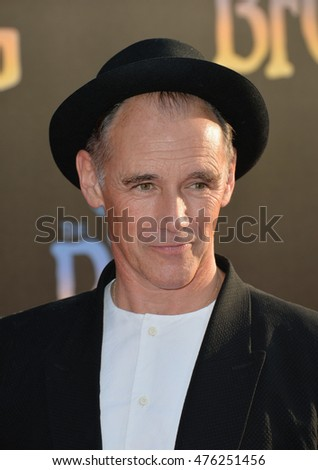 "LOS ANGELES, CA. June 21, 2016: Actor Mark Rylance at the U.S. premiere of Disney's ""The BFG"" at the El Capitan Theatre, Hollywood."