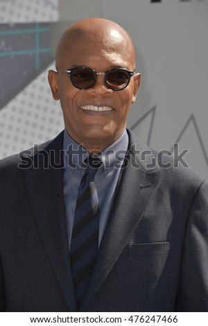 LOS ANGELES, CA. June 26, 2016: Actor Samuel L. Jackson at the 2016 BET Awards at the Microsoft Theatre LA Live.