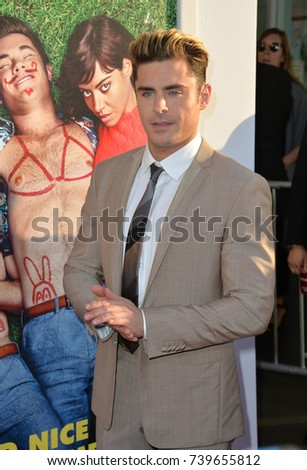 "LOS ANGELES, CA. June 29, 2016: Actor Zac Efron at the premiere of ""Mike and Dave Need Wedding Dates"" at the Cinerama Dome, Hollywood."