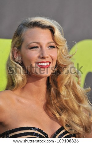 "LOS ANGELES, CA - JUNE 26, 2012: Blake Lively at the world premiere of her movie ""Savages"" at Man Village Theatre, Westwood."