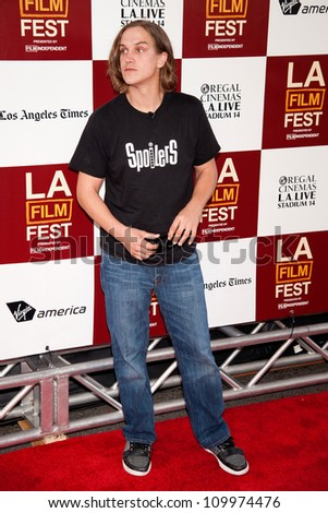 LOS ANGELES, CA - JUNE 14: Jason Mewes arrives at the Los Angeles Film Festival premiere of 'To Rome With Love' at Regal Cinemas L.A. LIVE Stadium 14 on June 14, 2012 in Los Angeles, California. - stock photo