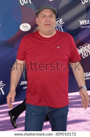 """LOS ANGELES, CA - JUNE 9, 2015: Jeff Garlin at the Los Angeles premiere of Disney-Pixar's """"Inside Out"""" at the El Capitan Theatre, Hollywood.  - stock photo"""