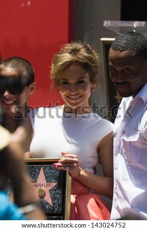 LOS ANGELES, CA - JUNE 20: Jennifer Lopez at the Hollywood Walk of Fame Ceremony for Jennifer Lopez at  Hollywood on June 20, 2013 in Los Angeles, CA - stock photo