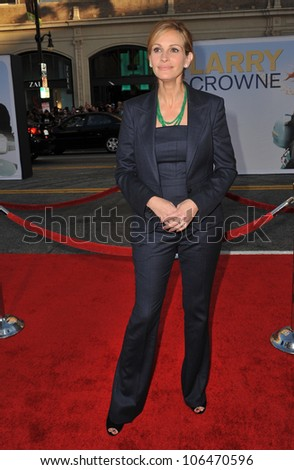 "LOS ANGELES, CA - JUNE 27, 2011: Julia Roberts at the world premiere of her new movie ""Larry Crowne"" at Grauman's Chinese Theatre, Hollywood. June 27, 2011  Los Angeles, CA - stock photo"