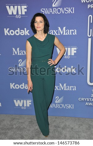 LOS ANGELES, CA - JUNE 12, 2013: Mad Men star Jessica Pare at the Women in Film 2013 Crystal + Lucy Awards at the Beverly Hilton Hotel.
