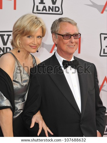 LOS ANGELES, CA - JUNE 10, 2010: Mike Nichols & wife Diane Sawyer at the 2010 AFI Life achievement Award Gala, honoring director Mike Nichols, at Sony Studios, Culver City, CA. - stock photo