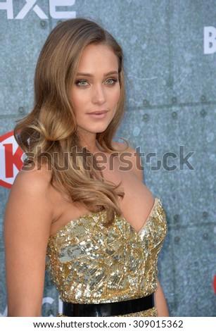 LOS ANGELES, CA - JUNE 7, 2015: Model Hannah Davis at Spike TV's 2015 Guys Choice Awards at Sony Studios, Culver City.  - stock photo
