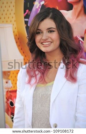 "LOS ANGELES, CA - JUNE 27, 2012: Rebecca Black at the Los Angeles premiere of ""Katy Perry: Part of Me"" at Grauman's Chinese Theatre, Hollywood."