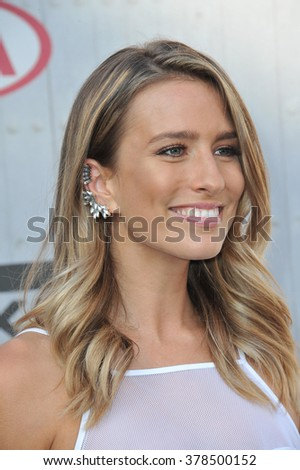 LOS ANGELES, CA - JUNE 7, 2014: Renee Bargh at Spike TV's 2014 Guys Choice Awards at Sony Studios, Culver City. - stock photo